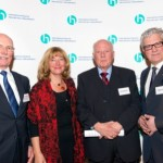 Karl-Udo Jüntgen, Ruth Deus, Alois Lünendonk, Waldemar Gluch | Jahresempfang der Handelsverbände 2014 | © HV NRW