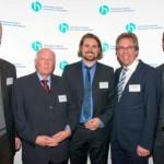 Armin Schnieber, Alois Lünendonk, Dr. Oliver Pieper, Michael Radau, Frank Holland | Jahresempfang der Handelsverbände 2014 | © HV NRW